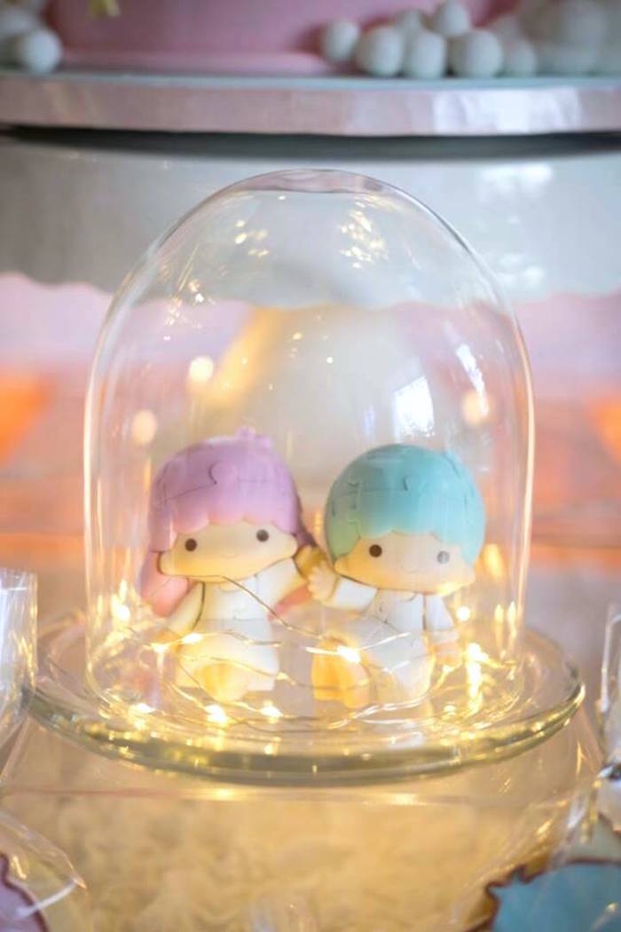 Twinkle light dome from a Pastel Little Star Birthday Party on Kara's Party Ideas | KarasPartyIdeas.com (19)