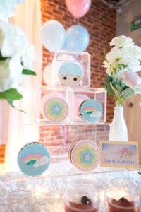 Sparkle cupcakes from a Pastel Little Star Birthday Party on Kara's Party Ideas | KarasPartyIdeas.com (16)