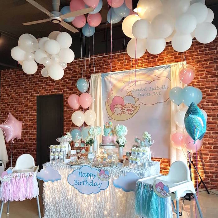 Dessert table from a Pastel Little Star Birthday Party on Kara's Party Ideas | KarasPartyIdeas.com (15)