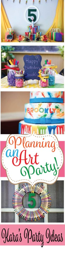 Tips for Planning an Art Party via Kara's Party Ideas