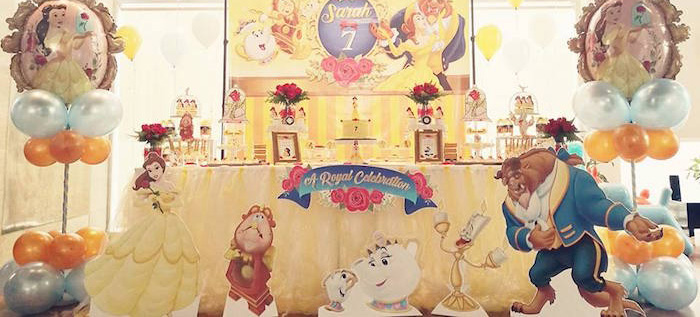 Royal Beauty and the Beast Birthday Party on Kara's Party Ideas | KarasPartyIdeas.com (1)