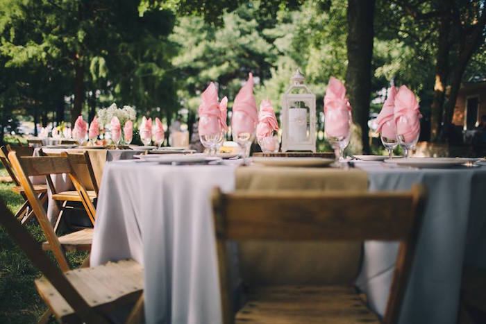 Guest table from a Rustic Blush Barn Wedding on Kara's Party Ideas | KarasPartyIdeas.com (7)