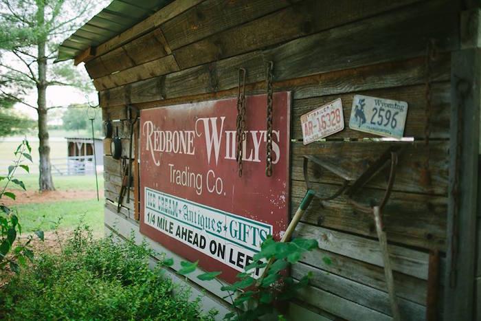 Backdrop + rustic barn from a Rustic Blush Barn Wedding on Kara's Party Ideas | KarasPartyIdeas.com (30)