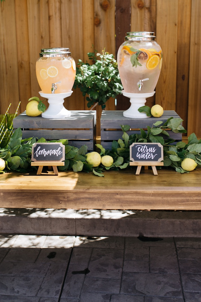 Kara 39 s party ideas rustic lemon themed baby shower kara for Dekoration fur babyparty