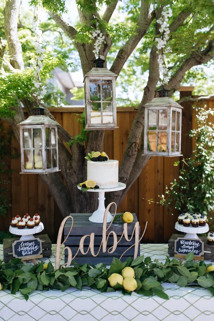 Kara S Party Ideas Rustic Lemon Themed Baby Shower Kara