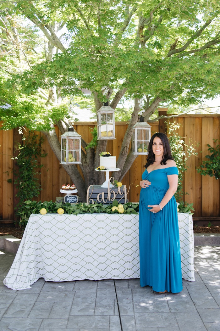 Kara's Party Ideas Rustic Lemon Themed Baby Shower | Kara