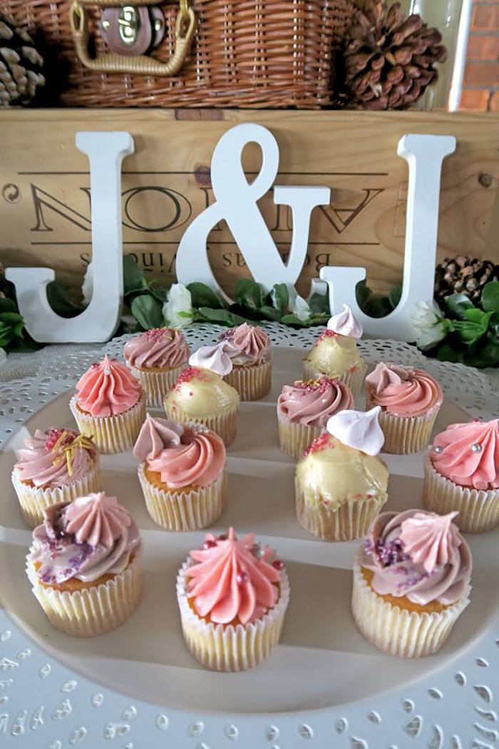 Cupcakes from a Rustic Romantic Wedding on Kara's Party Ideas | KarasPartyIdeas.com (7)