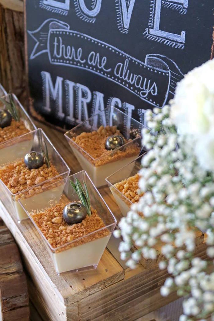 Dessert cups from a Rustic Romantic Wedding on Kara's Party Ideas | KarasPartyIdeas.com (3)