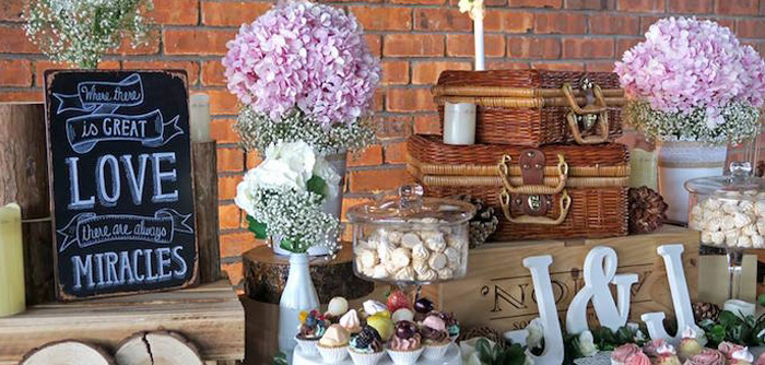 Rustic Romantic Wedding on Kara's Party Ideas | KarasPartyIdeas.com (1)