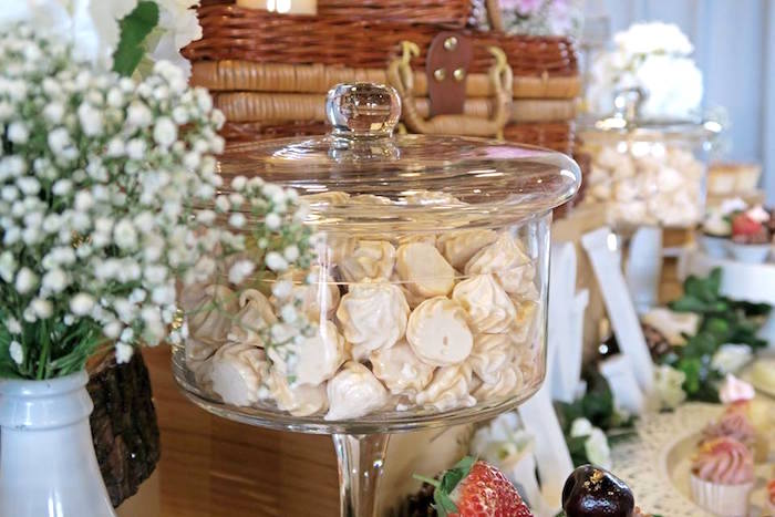 Meringue kisses from a Rustic Romantic Wedding on Kara's Party Ideas | KarasPartyIdeas.com (20)
