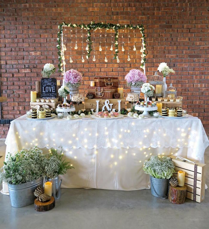 Karas Party Ideas Rustic Romantic Wedding