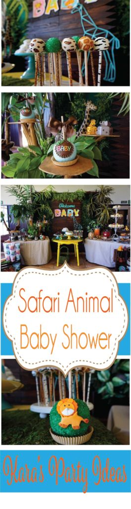 Safari Animal Baby Shower via Kara's Party Ideas