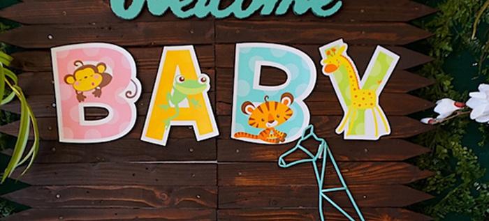 Safari Animal Baby Shower on Kara's Party Ideas | KarasPartyIdeas.com (1)