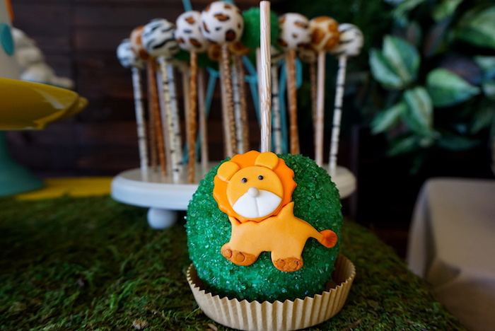 Lion gourmet apple from a Safari Animal Baby Shower on Kara's Party Ideas | KarasPartyIdeas.com (14)