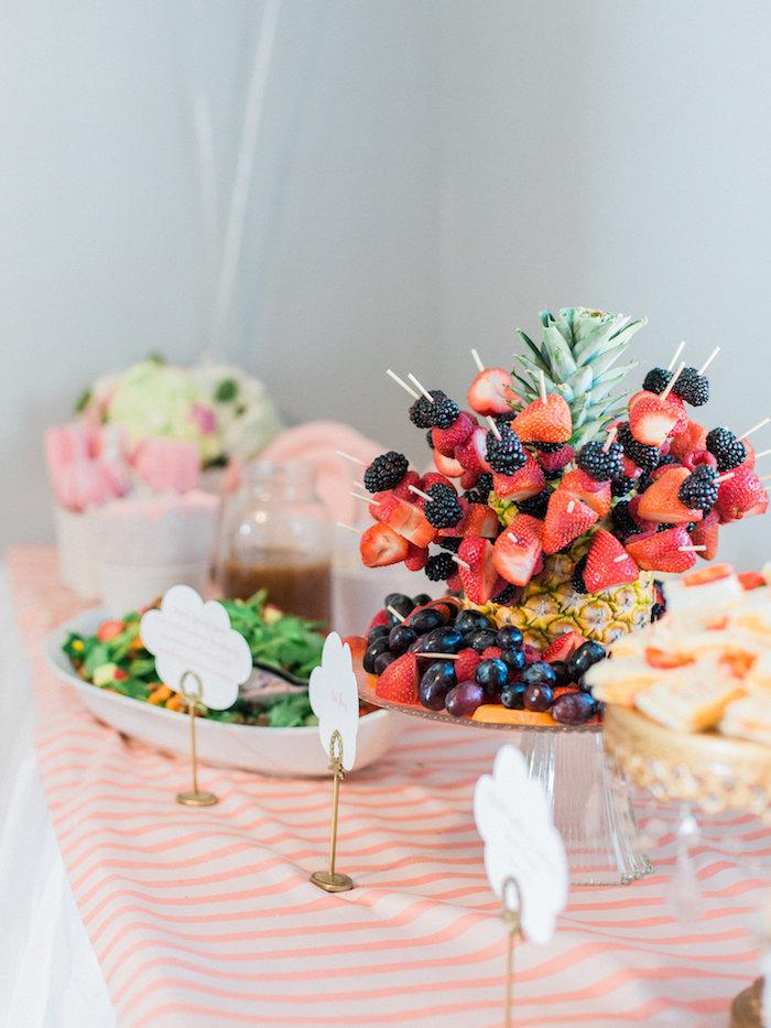 Food table from a Shabby Chic Hot Air Balloon Baby Shower on Kara's Party Ideas   KarasPartyIdeas.com (31)