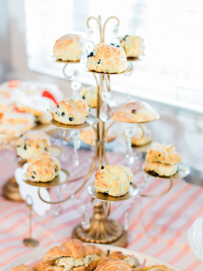 Blueberry biscuits from a Shabby Chic Hot Air Balloon Baby Shower on Kara's Party Ideas | KarasPartyIdeas.com (29)