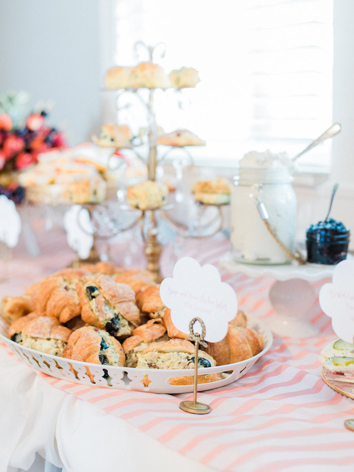 Croissants from a Shabby Chic Hot Air Balloon Baby Shower on Kara's Party Ideas | KarasPartyIdeas.com (28)