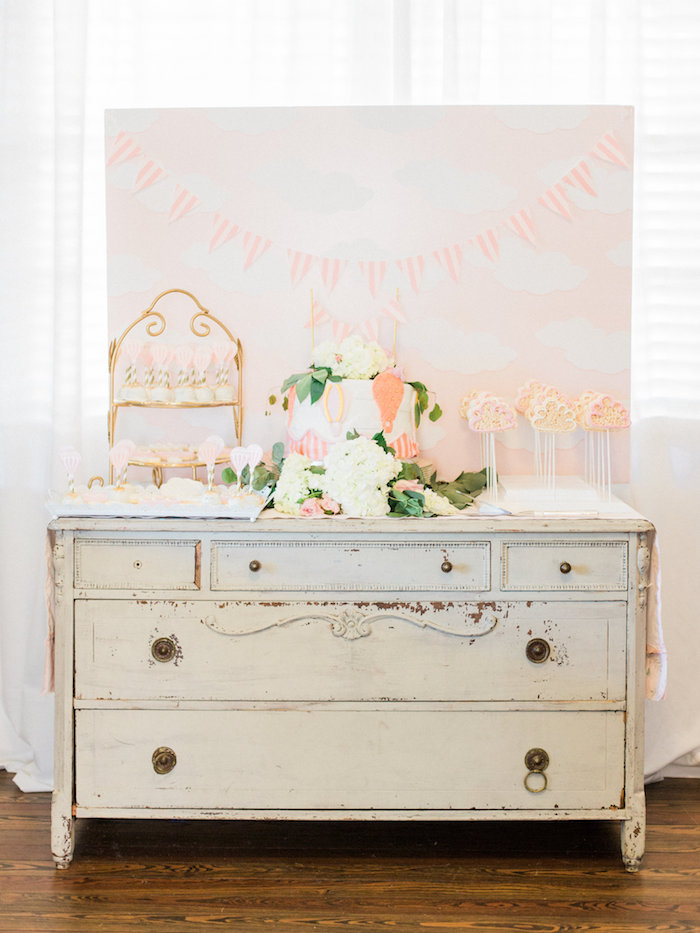 Shabby Chic Hot Air Balloon Baby Shower on Kara's Party Ideas | KarasPartyIdeas.com (24)