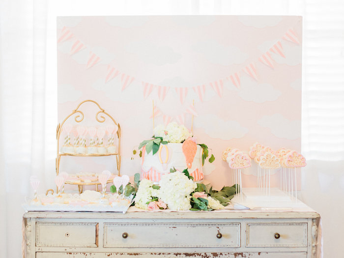 Shabby Chic Hot Air Balloon Baby Shower on Kara's Party Ideas | KarasPartyIdeas.com (23)