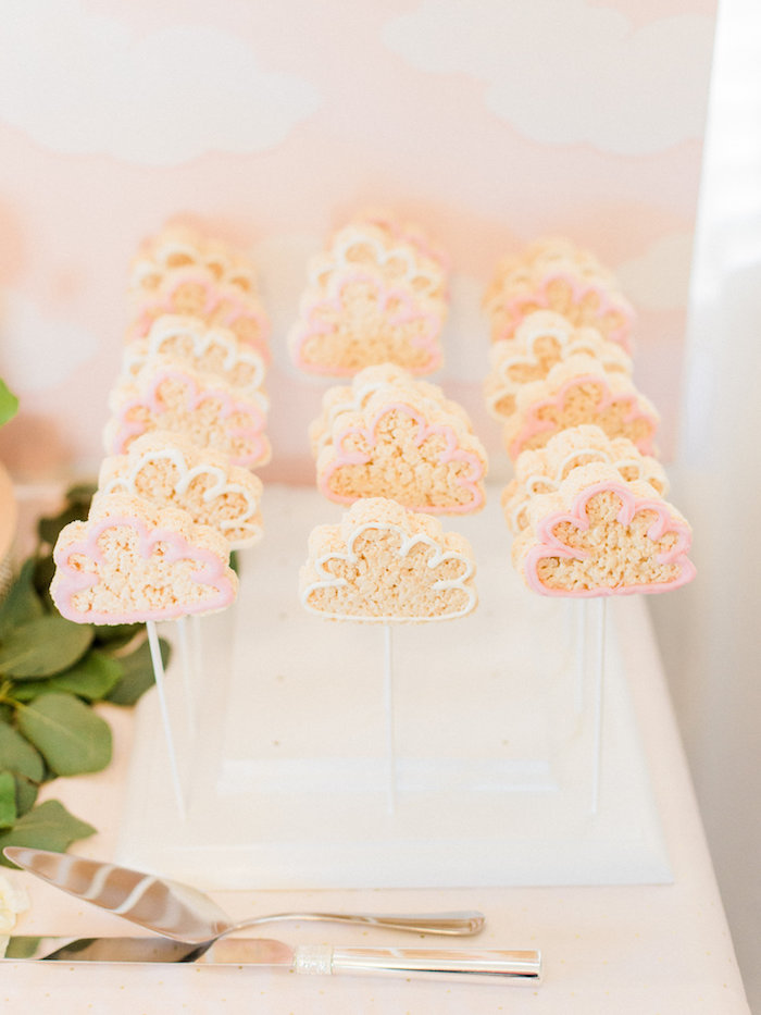 Cloud Krispies from a Shabby Chic Hot Air Balloon Baby Shower on Kara's Party Ideas | KarasPartyIdeas.com (21)