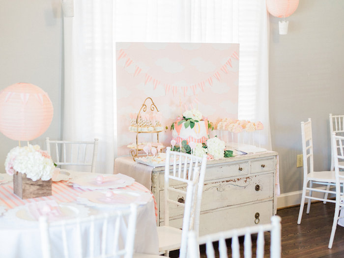 Shabby Chic Hot Air Balloon Baby Shower on Kara's Party Ideas | KarasPartyIdeas.com (14)