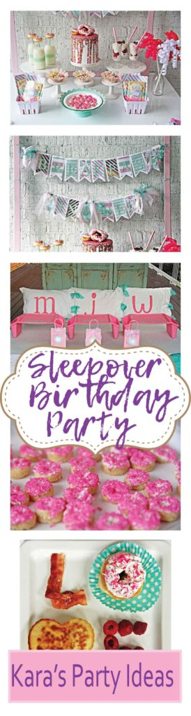 Breakfast in Bed Sleepover Birthday Party via Kara's Party Ideas