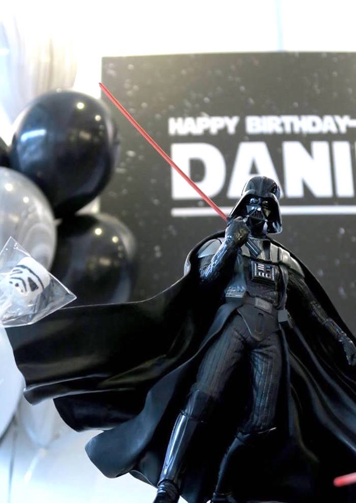 Darth Vader figurine from a Star Wars Birthday Party on Kara's Party Ideas | KarasPartyIdeas.com (8)