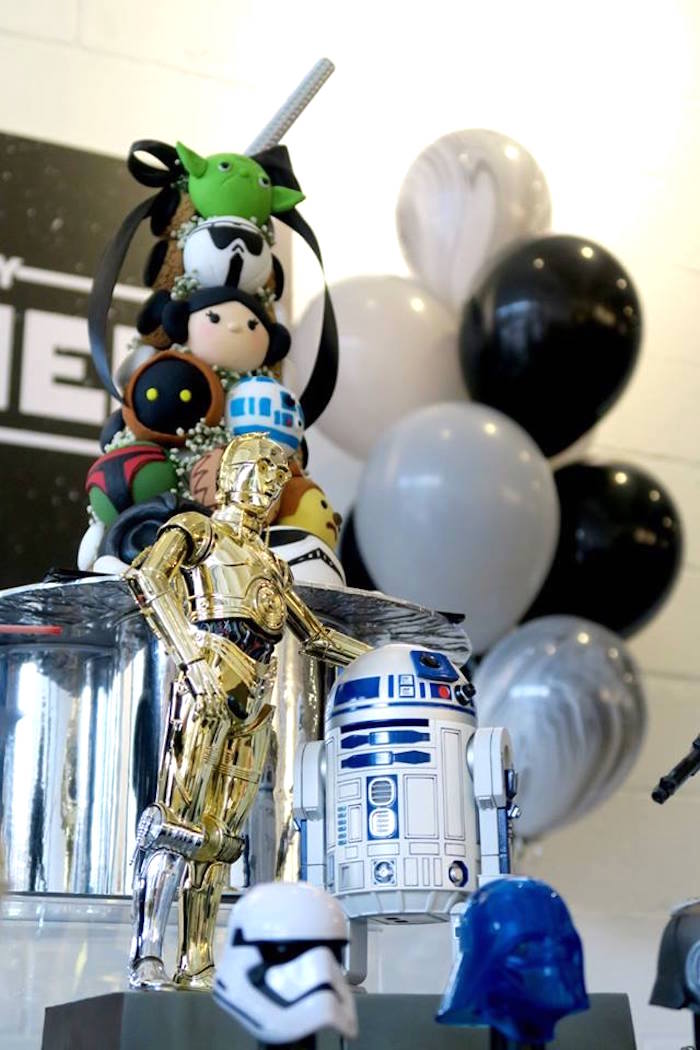 R2-D2 and C-3PO from a Star Wars Birthday Party on Kara's Party Ideas | KarasPartyIdeas.com (7)