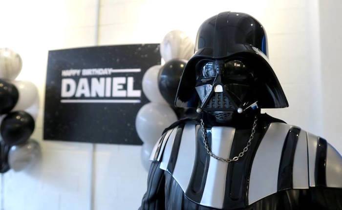 Darth Vader from a Star Wars Birthday Party on Kara's Party Ideas | KarasPartyIdeas.com (5)