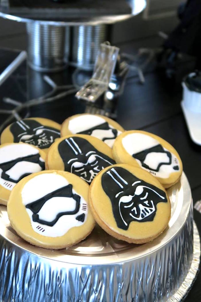 Dark Side Cookies from a Star Wars Birthday Party on Kara's Party Ideas | KarasPartyIdeas.com (4)