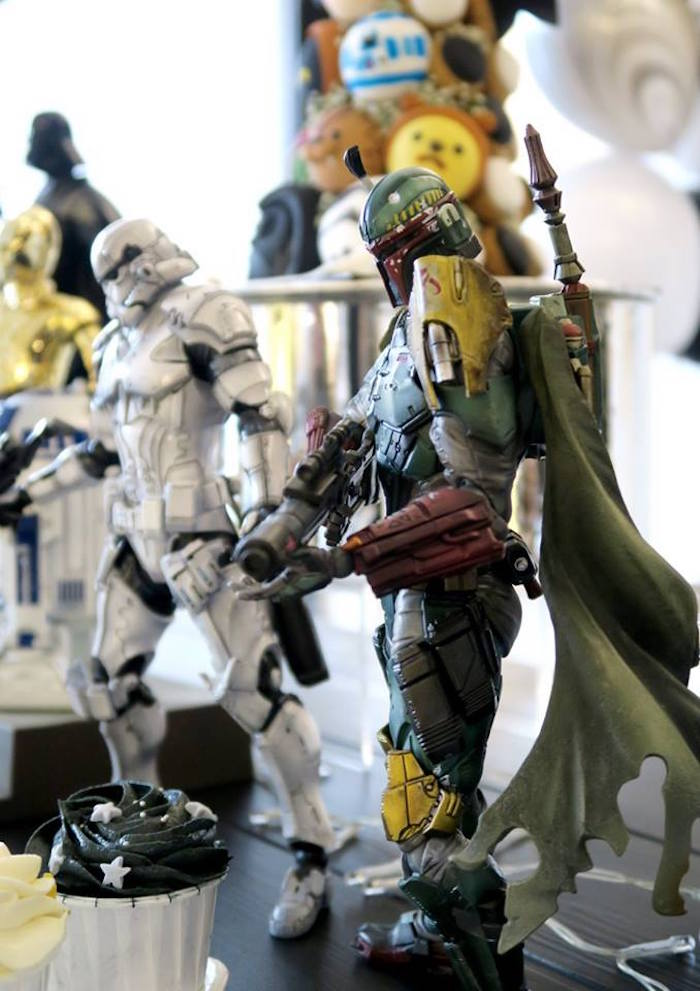 Character figurines from a Star Wars Birthday Party on Kara's Party Ideas | KarasPartyIdeas.com (2)