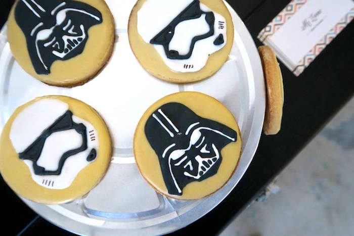 Star Wars Cookies from a Star Wars Birthday Party on Kara's Party Ideas | KarasPartyIdeas.com (17)