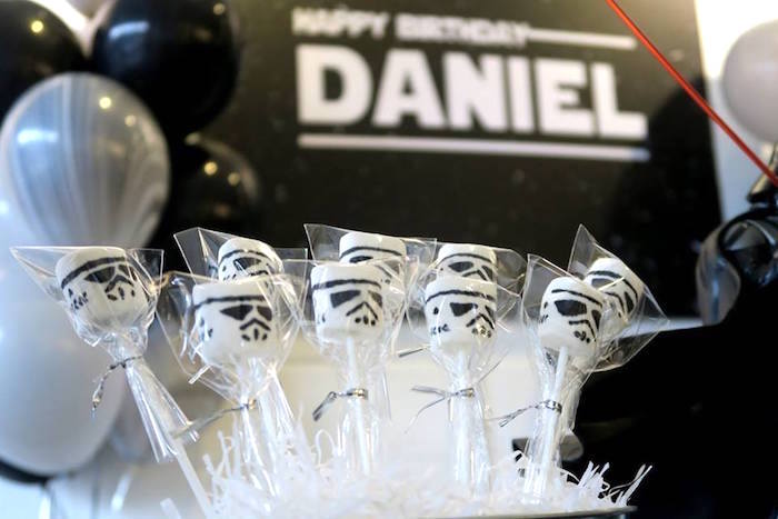 Storm Trooper Pops from a Star Wars Birthday Party on Kara's Party Ideas | KarasPartyIdeas.com (15)