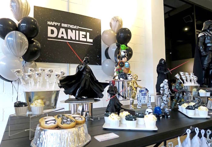 Star Wars Sweet Table from a Star Wars Birthday Party on Kara's Party Ideas | KarasPartyIdeas.com (14)