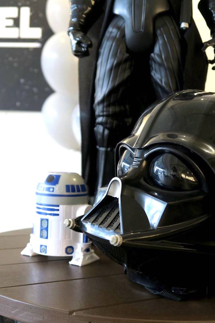 Lord Vader Mask from a Star Wars Birthday Party on Kara's Party Ideas | KarasPartyIdeas.com (12)