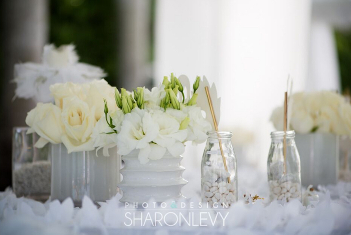 Guest table decor from a Swan Lake Birthday Party on Kara's Party Ideas   KarasPartyIdeas.com (14)