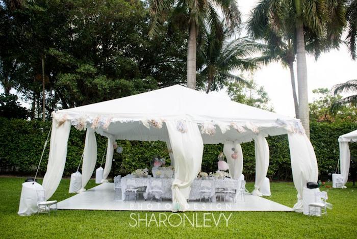 Tentscape from a Swan Lake Birthday Party on Kara's Party Ideas   KarasPartyIdeas.com (8)