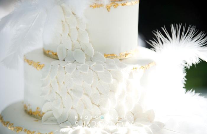 Swan cake detail from a Swan Lake Birthday Party on Kara's Party Ideas   KarasPartyIdeas.com (19)