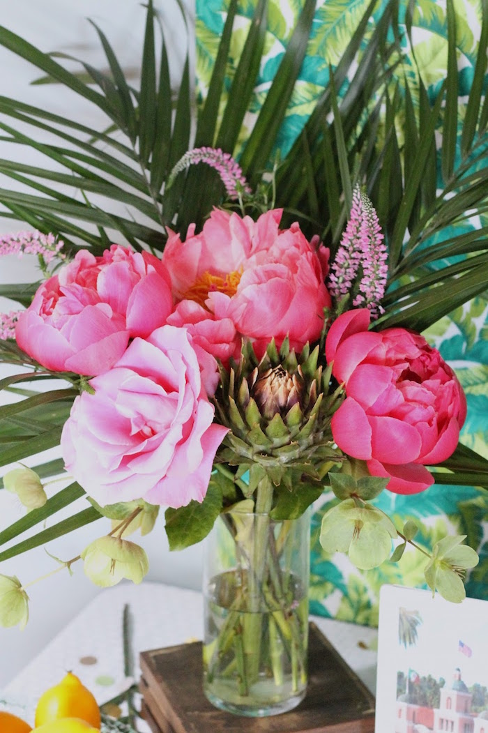 Tropical blooms from The Beverly Hills Hotel Inspired Favorite Things Party on Kara's Party Ideas | KarasPartyIdeas.com (24)