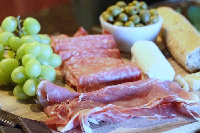Charcuterie spread from The Beverly Hills Hotel Inspired Favorite Things Party on Kara's Party Ideas | KarasPartyIdeas.com (23)