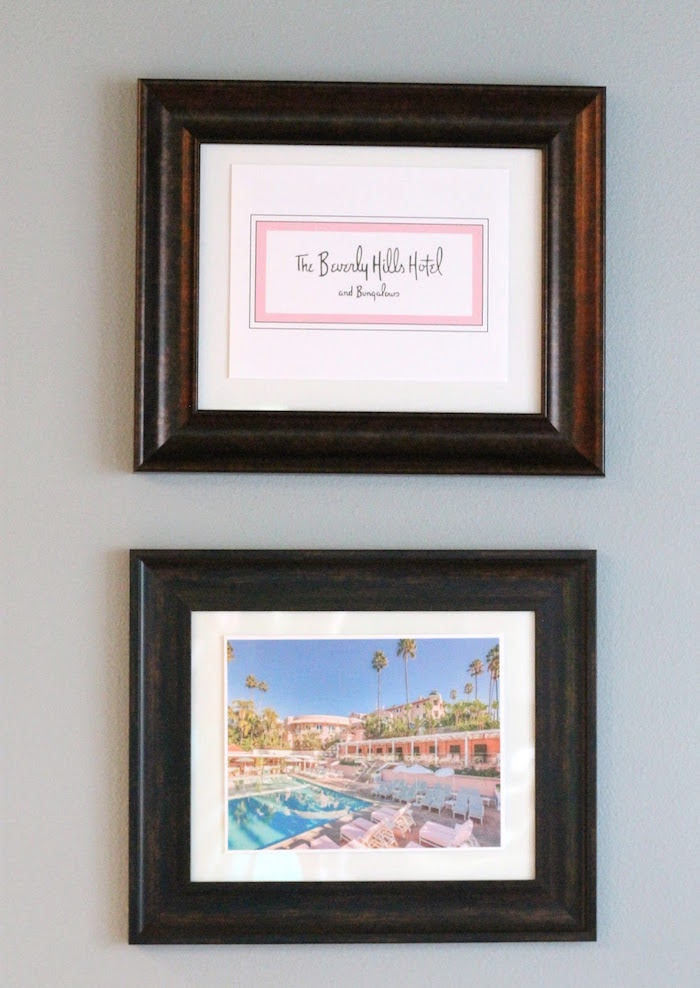 Signage + framed decor from The Beverly Hills Hotel Inspired Favorite Things Party on Kara's Party Ideas | KarasPartyIdeas.com (22)