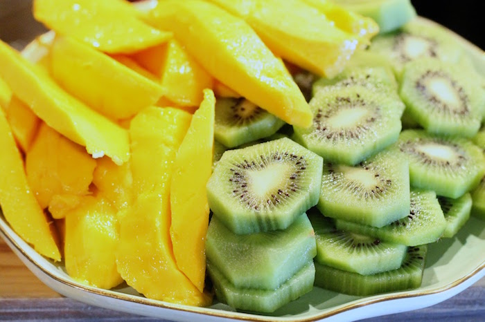 Fresh mango and kiwi from The Beverly Hills Hotel Inspired Favorite Things Party on Kara's Party Ideas   KarasPartyIdeas.com (21)