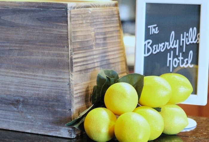 Lemons from The Beverly Hills Hotel Inspired Favorite Things Party on Kara's Party Ideas | KarasPartyIdeas.com (7)