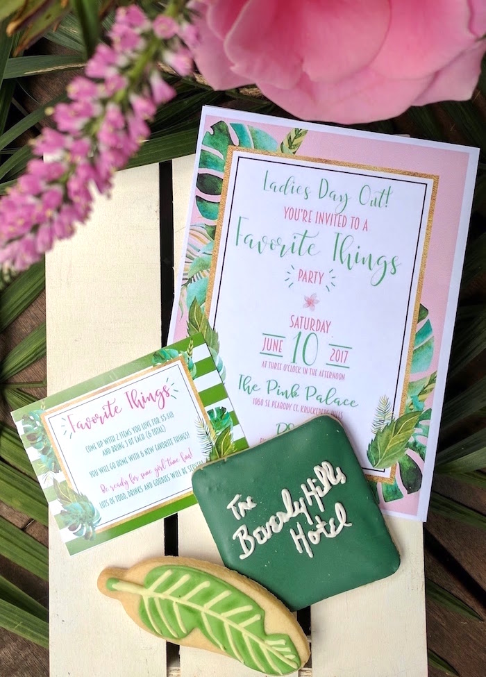 Party Invite from The Beverly Hills Hotel Inspired Favorite Things Party on Kara's Party Ideas | KarasPartyIdeas.com (6)