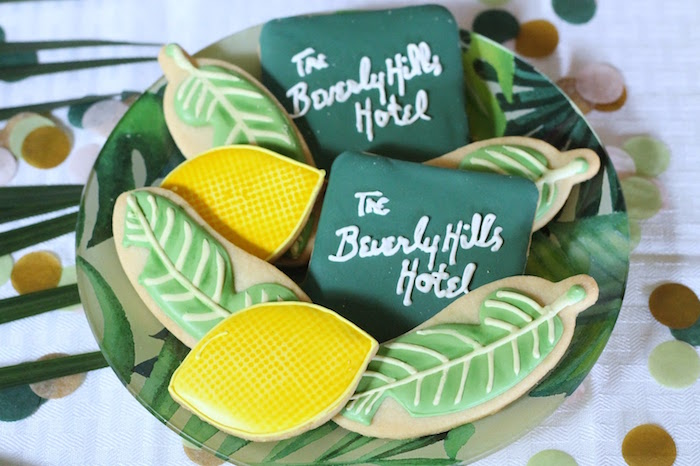 Beverly Hills Hotel-inspired sugar cookies from The Beverly Hills Hotel Inspired Favorite Things Party on Kara's Party Ideas   KarasPartyIdeas.com (34)