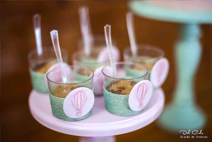 Dessert cups from a Vintage Hot Air Balloon Birthday Party on Kara's Party Ideas | KarasPartyIdeas.com (6)