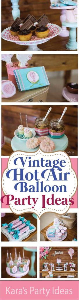 Vintage Hot Air Balloon Party Ideas via Kara's Party Ideas