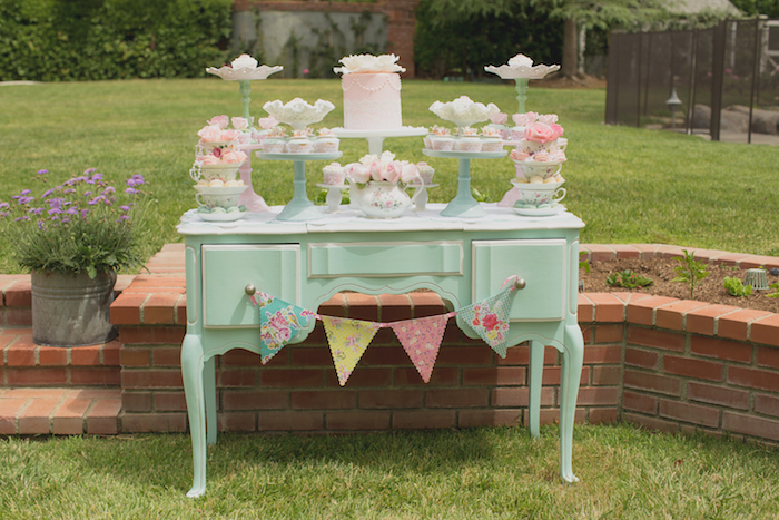 Vintage Tea Party on Kara's Party Ideas | KarasPartyIdeas.com (24)