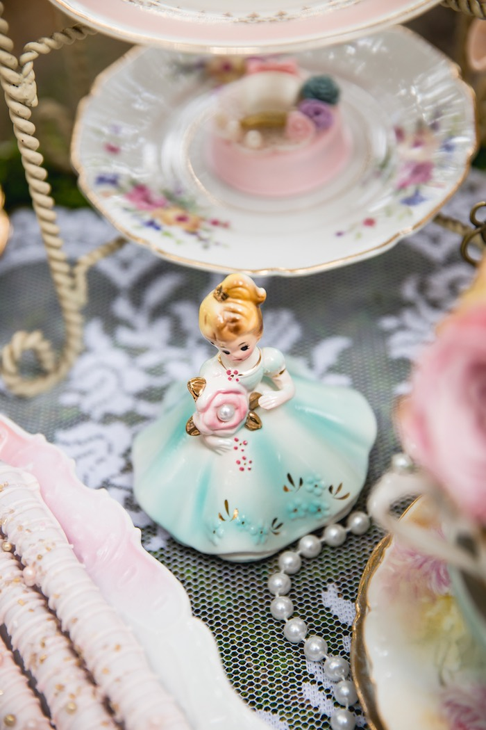 Vintage doll from a Vintage Tea Party on Kara's Party Ideas | KarasPartyIdeas.com (42)