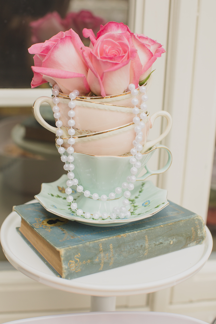 Vintage Tea Party on Kara's Party Ideas | KarasPartyIdeas.com (10)